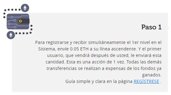CRYPTOHANDS sistema de donaciones totalmente transparente con Smart Contract de Ethereum. CRYPTOHANDS_paso_1