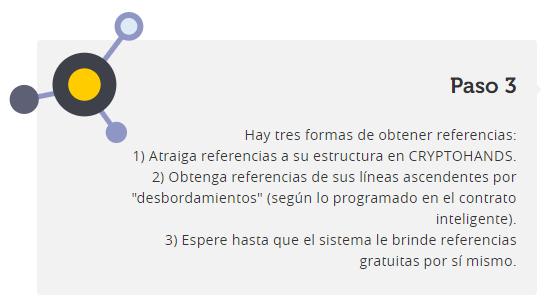 CRYPTOHANDS sistema de donaciones totalmente transparente con Smart Contract de Ethereum. CRYPTOHANDS_paso_3