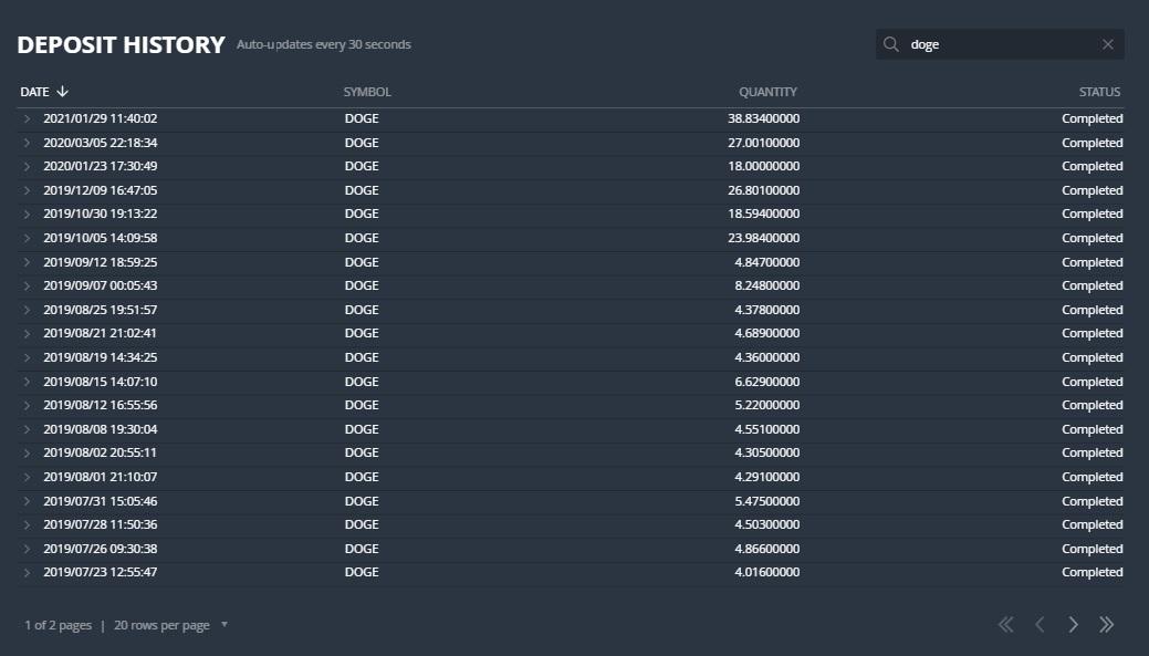 Comprobantes de pagos de los Bots de Telegram. Ya llevo 97 retiros directos a mi wallet. Retiros_bot_DOGEClickBot
