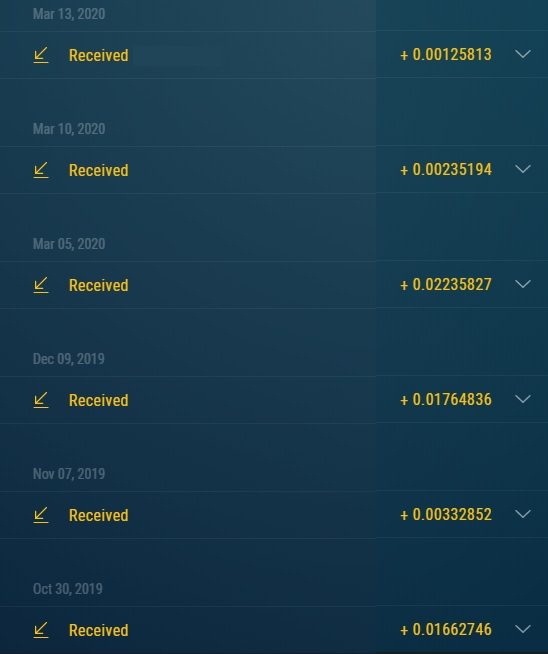 Comprobantes de pagos de los Bots de Telegram. Ya llevo 97 retiros directos a mi wallet. Retiros_bot_ZEC_-0