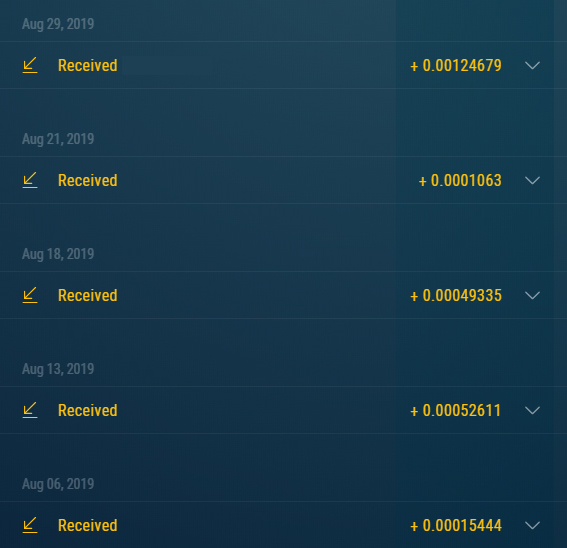 Comprobantes de pagos de los Bots de Telegram. Ya llevo 80 retiros directos a mi wallet. Retiros_bot_ZEC_1